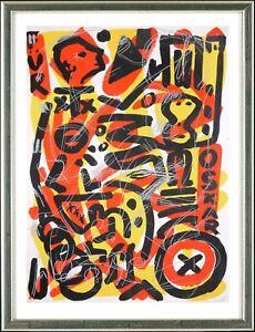 A.R. Penck (1939-2017), Für Oskar, ca. 1990 - signiert, gerahmt
