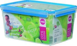 Emsa 2 Er Set Clip & Close 3D Storage Jar Sealed Container Airtight Box 8,2 L