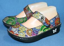 ALEGRIA PAL-387 Paloma Bullseye Mosaic Mary Janes Wo's 5-5.5 Eu 35 Multicolor