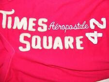 Aeropostale Ladies V-Neck Short Sleeve Times Square Shirt Size Small Color Red