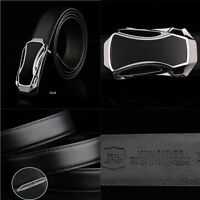 Men's Fashion Automatic Buckle Genuine Leather Belts Waist Strap Waistband