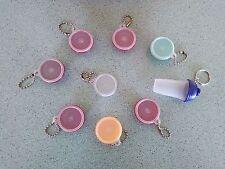 Tupperware Keychain Key chain lot of 8 Wonderlier & Quick Shake red aqua yellow