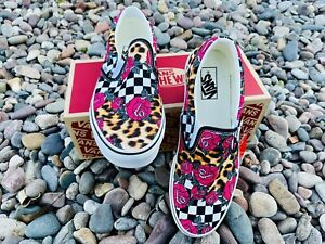 Vans Shoes slip on 9.5 Men 11.0 Women Very Rare One Of A Kind
