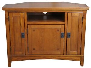 W319-17 Ashley Furniture Cross Island Signature Oak Corner Tv Media Console