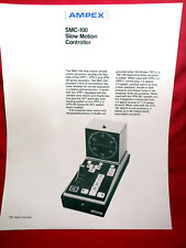 """VINTAGE ~ AMPEX SMC-100 """"INSTANT REPLAY"""" CONTROLLER INFORMATION SHEET - RARE"""
