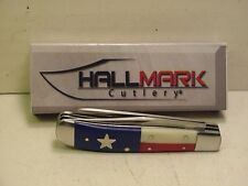"Hallmark Red, White, Blue Texas Mini Trapper 3 1/2"" Pocket Knife HM0101TX"
