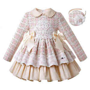 Pettigirl Girls Tweed Party Dress 3t 4 5 6 8 10 12 Years Christmas Clothes