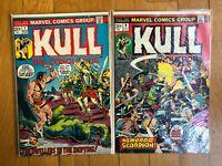 Lot of 2 Kull The Conqueror #7  9 Marvel Comics (1973)