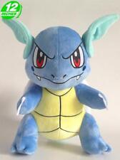 Big 12 inches Wow Pokemon Wartortle Plush Stuffed Doll Soft PNPL6208 Blue