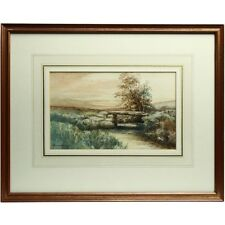 Original Framed Fernworthy Chagford Dartmoor Landscape Watrcolour Painting