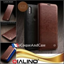 Etui coque Housse QIALINO 100% Cuir Genuine Leather Wallet Case Xiaomi Mi Mix 3