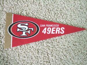 """NEW San Francisco 49ers NFL Football Pennant Mini 9"""" Souvenir Felt Flag"""