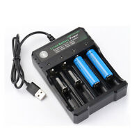 Lot Ultra 3000mAh Fire 18650 Battery 3.7V Li-ion Rechargeable Batteries Charger