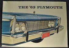 1963 Plymouth Brochure Fury Belvedere Savoy Excellent Original 63 Canadian
