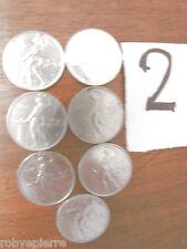 7 monete 50 lire vulcano 1956 1964 1967 1966 cinquanta