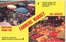 Greetings from FARMERS MARKET LA ~Std Size Chrome