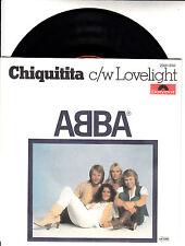 "ABBA Chiquitita & Lovelight  PICTURE SLEEVE 7"" 45 rpm BRAND NEW + juke box strip"