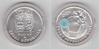 CZECH REPUBLIC - SILVER UNC 200 KORUN COIN 2001 YEAR FOOTBALL UNION KM#52 + COA