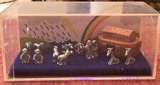 Hudson Pewter Noah's Ark Lot with 12 Pieces In Original Box With Literature