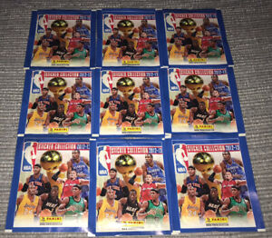 NBA 2012-13 STICKER COLLECTION - 10 UNOPENED BAGS WITH STICKERS