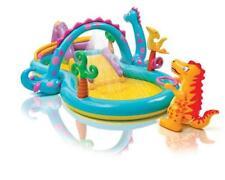 Planschbecken Dinoland Playcenter Kinder Pool Rutsche Dusche 333x229x112cm