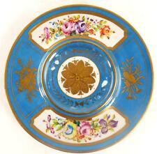 HAND PAINTED FRENCH SEVRES STYLE PORCELAIN TRAY STAND PLATE
