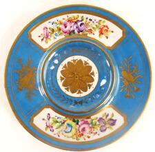 Peint à la main french sevres style porcelaine plateau support assiette