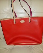 Coach F31326 Park Metro Large Orange Saffiano Leather Shoulder Tote Bag Mrsp$348