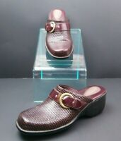 Clarks Artisan Clogs Mules Brown Leather Sz 10