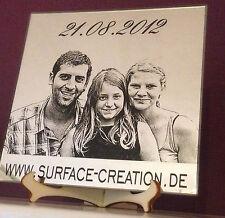 Spiegel mit Foto gravur Geschenk Persönlich Geburt Ostern