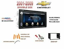 CHEVROLET TRUCK 01-09 Touchscreen Dvd Bluetooth Radio Stereo Double Din Dash Kit
