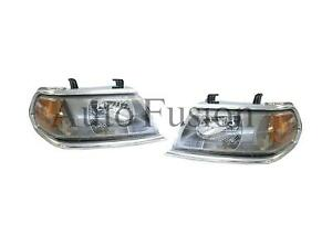 Headlights Pair For Mitsubishi Challenger PA (2000-2006)