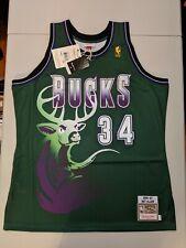 RAY ALLEN Mitchell & Ness M&N MILWAUKEE BUCKS AUTHENTIC Green Jersey 48 NBA NWT