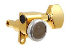 Gotoh Gold 6 Inline RH Mini Sealed Locking Button Guitar Tuners TK-7768-002