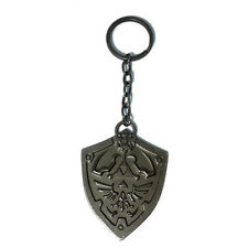 OFFICIAL THE LEGEND OF ZELDA METAL HYLIAN SHIELD KEYRING *BRAND NEW*