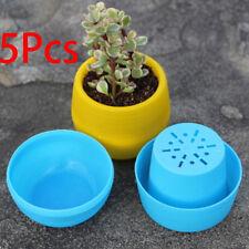 5Pcs Flower Pot Colour Gloss Plastic Plant Pot Planter Saucer Wedding Decor