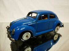 KO JAPAN TIN TOYS BLECH VW VOLKSWAGEN BEETLE - BLUE L16.5cm - GOOD - WINDUP RARE