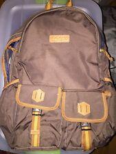 """NWT Timberland PRESCOTT 2 Pocket Brown Tan 20"""" Backpack Shoulder Bag MSRP $160"""