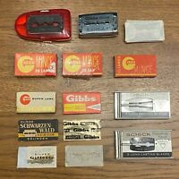 Lames de rasoir ❤️ Ancien Lot de +100 lames GIBBS & SCHICK - Old razor blades