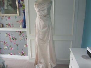 Coast blush satin wedding/prom dress size 12