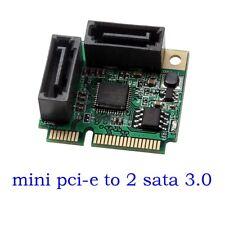Mini PCI-Express to 2 Ports SATA 3.0 III 6Gb/s Expansion Card Single Chip