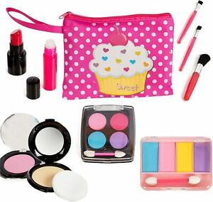 Toddler Pretend Play Makeup Set Girls Learning Toys Cute Cosmetic Bag Colorful