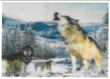 wolf in pack  3D Lenticular Holographic Stereoscopic Picture Wall Art