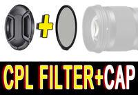 FILTRO CPL POLARIZZATORE FILTER POLARIZER PER Canon EF-S 55-250mm f/4-5.6 IS 58M