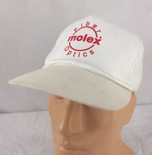 Vtg Molex Fiber Optics Hat Snapback White Cap Telecommunications