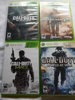 Call of Duty Lot Xbox 360: Black Ops 1 COD Modern Warfare 2 3 World at War MW3