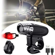 10000 Lumen USB Recharge Bike Headlight LED Bicycle Front Head Lamp Rear Light