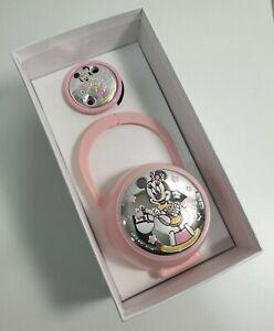 Disney Set Box e Porta Ciuccio Rosa Minnie Mouse Bimba Bambina Neonata D 1227
