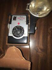 Vintage Kodak Brownie Camera With Brown Case