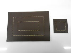 7 x Faux Leather Placemats and Drinks Coasters Set.